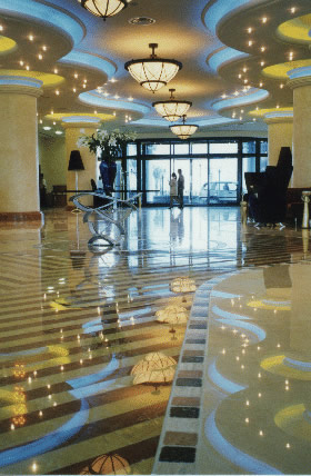 Protected Marble floor in Ottawa by Marble Restoration Services Ltd.